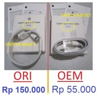 Jual ORI KABEL DATA CHARGER IPHONE 5 5s 5c 6 6s 6+ plus Ipad Mini Air Apple Murah