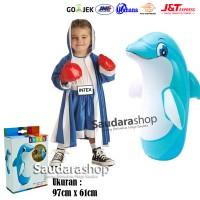 Intex 44669 Sansak Tinju Anak / Sansak Tinju 3D BOP Dolphin / Sansak