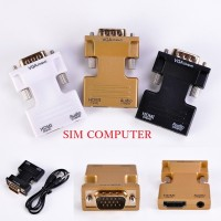 HDMI Female to VGA Male Converter+Audio Adapter Support 1080P Signal O