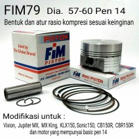 Piston Seher KIT FIM Mentah Modif 58,00 Pen 14 Jupiter MX