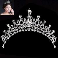 Bridal Pengantin Tiara Pesta Mahkota Headband Aksesoris Rambut