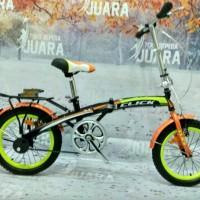 sepeda lipat anak genio click united 16