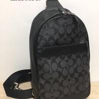 Tas Selempang Cowok Coach Original Men Sling Pack Bag Polgan Black