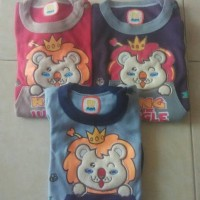 Setelan Kaos Anak Karakter singa lion lucu size 0-2 th