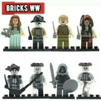 Jual Minifigures Pirates Caribbean Minifigure Mainan lego anak Jack Sparrow Murah