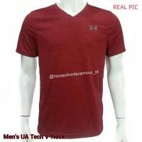 Jual ORIGINAL Under Armour Tech V-Neck T-Shirt Marroon Murah