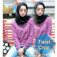 TWIST CROP - BAJU RAJUT KOREA