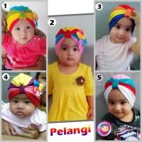 turban Pelangi / turban baby / turban bayi / jilbab bayi / jilbab baby