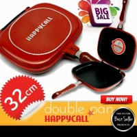 Jual Happy call double pan 32cm Jumbo panci multifungsi anti tumpah murah Murah