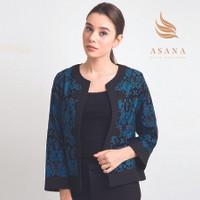Asana Panawangan Woman Jacket Batik Wanita - Blue