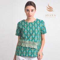 Asana Arjasari Woman Blouse Batik Wanita - Green