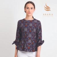 Asana Lembata Woman Blouse Batik Wanita - Violet