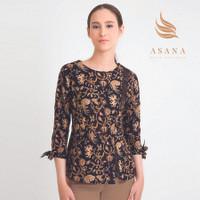 Asana Tabanan Woman Blouse Batik Wanita - Black