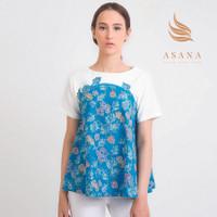 Asana Kalianda Woman Blouse Batik Wanita - Blue