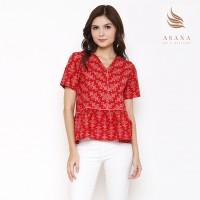 Asana Arjasari Woman Blouse Batik Wanita - Red