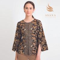 Asana Seluma Woman Blouse Batik Wanita - Black