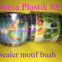 tutup gelas plastik cup roll lid SEALER seal press MOTIF gambar BUAH