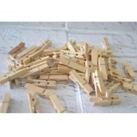 Wooden Clip 3.5 Cm / Jepit Kayu / / Penjepit Foto