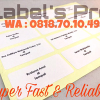 Jual Jasa print/cetak label undangan motif murah Murah