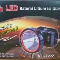 DONY HEAD LED KL-169 Hitam (Lampu LED Putih/LED Kuning)