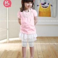 Jual Setelan Anak GW Tee Pink Tutu Pant White Murah
