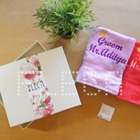 HANDUK COUPLE HADIAH WEDDING PERNIKAHAN HAMPERS SESERAHAN ANNIVERSARY