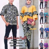 Batik Couple Sarimbit Seragam Pesta Hijab Baju Muslim Wanita Modern