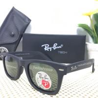 Kacamata Ray Ban Wayfarer 2140 Polarized Lens black Doff