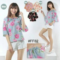 CSL Tk blouse flow ff 82 (cream, merah,hitam,biru)