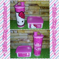 Jual Hello Kitty Breaktime (1) Tempat Makan Minum Jadul Tupperware Murah Murah