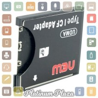 SDHC to Compact Flash CF Type I Card Reader Adapter - Black`6133XZ-