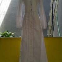 Baju Muslim Dewasa Wanita Dannis Abaya type 170625IH Ikhrom - Putih