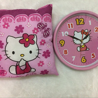 Jual Jam Hello Kitty free Bantal Murah