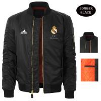Jual Jaket Bomber Hitam Logo Team Real Madrid Murah