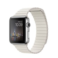 Apple Watch 1 2015 Stainless Leather Loop White MMFV2 42mm Band