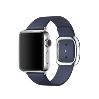 Apple Watch 1 2015 Stainless Modern Buckle MJ352 38MM Mid Blue Band