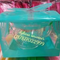 souvenir pernikahan gelas kaca / mug  beling + mika