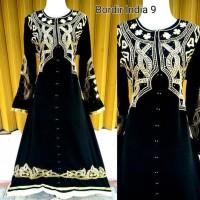gamis / jubah / busana muslim / Abaya bordir india 09