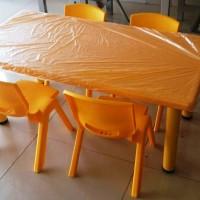 1 Meja&Meja kursi belajar, KB, TK, PAUD plastik Bentuk Persegi Panjang