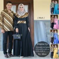 Baju Couple Kemeja Batik dan Long Dress RHAMA COUPLE
