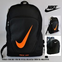 Tas Ransel Bodyback Backpack Nike Max Air Court Tech Full Hitam Orange