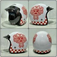 Jual Helm BOGO JPN barong bali merah putih + Kaca bogo original Murah
