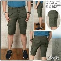 Jual celana chino kargo pendek warna hijau army Murah