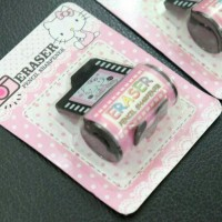 (IMPORT) Rautan Hello Kitty Roll Film Kamera Penghapus