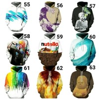 Hoodie Sweater 3D Digital Print Jaket Jumper Unisex Pullover Galaxy 7