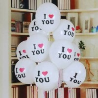 Balon Latex I Love You/ Balon Bulat/ Balon Karet I Love You 12 Inch
