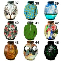 Hoodie Sweater 3D Digital Print Jaket Jumper Unisex Pullover Galaxy 5
