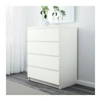 IKEA MALM Lemari 4 Laci - Warna Putih