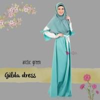 Gamis Only Gilda Dress Arctic Green VALISHA original Gamis Toyobo HQ