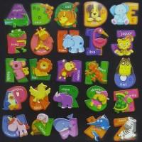 hiasan kulkas huruf ABC alfabet magnet souvernir ulang tahun anak
